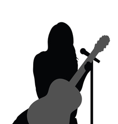 Girl with guitar music vector