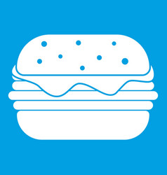 hamburger icon white vector image