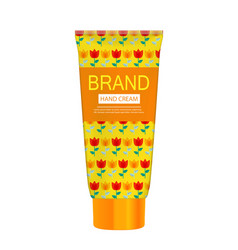 hand care cream bottle tube template for ads or vector image