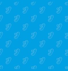 handset pattern seamless blue vector image