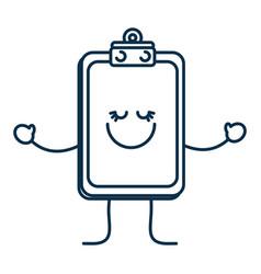 happy report table icon vector image