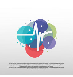 Heartbeat pulse logo with colorful concept vector