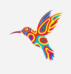 Humming bird colorfully vector