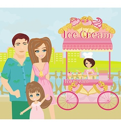 Ice Cream Mobile Shop vector image