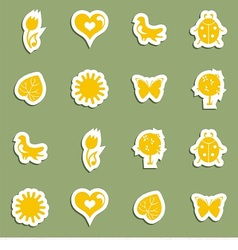 Icon set on the topic spring vector