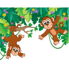Image with jungle theme 6 vector