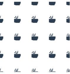 Injured finger icon pattern seamless white vector