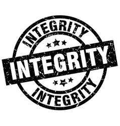 Integrity round grunge black stamp vector