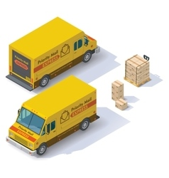isometric mail van vector image