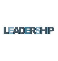 Leadership management business card text modern vector