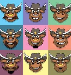Los Toro Hermanos - Bull Brothers vector