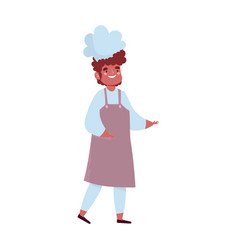 male chef with uniform character cartoon isolated vector image