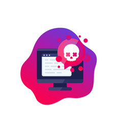 Malware security threat icon vector