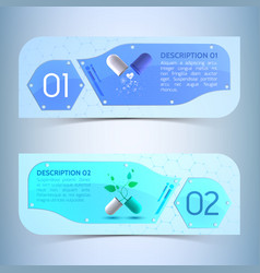 Medical info horizontal banners set vector