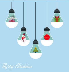 modern christmas card flat stylish design vector image