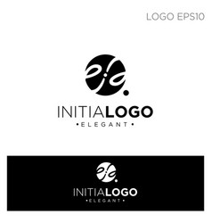 Monogram initial e logo template black color vector