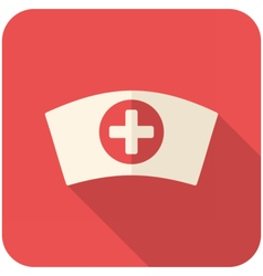 Nurse cap icon vector