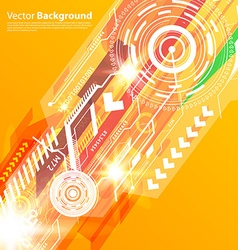 Orange Techno Background vector
