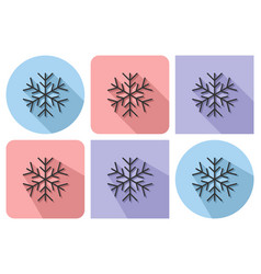 outlined icon of snowflake with parallel and not vector image