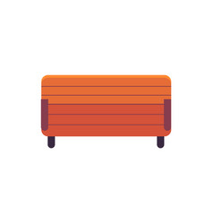 park wooden bench above view in flat style vector image