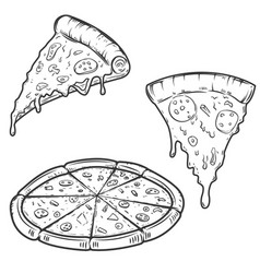 Pizza isolated on white background design vector