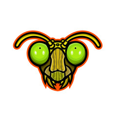 Praying mantis mascot vector