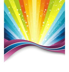rainbow banner template vector image