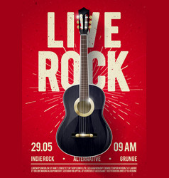 red live classic rock music poster for concert vector image