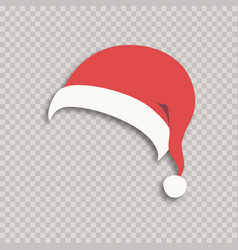 santa hat isolated on background vector image