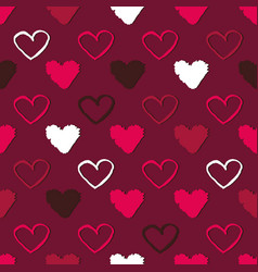 seamless pattern with hearts abstract background vector image