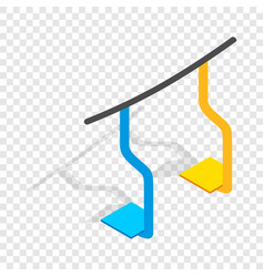 Ski lift isometric icon vector