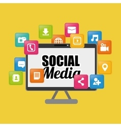 Social media and networking vector image