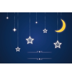 Star and moon toys vector image vector image