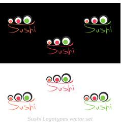 sushi logotypes set vector image
