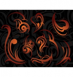 swirl design elements vector image