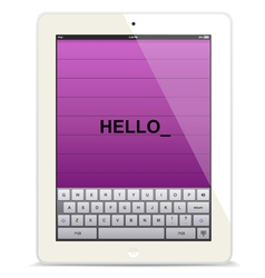 Tablet computer white vector