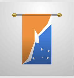 Tierra del fuego province argentina hanging flag vector