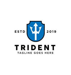 trident logo design inspiration vector image