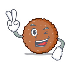 Two finger chocolate biscuit character cartoon vector