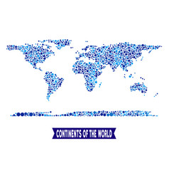 World continent map connections composition vector