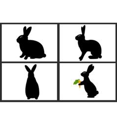 easter rabbit set vector image