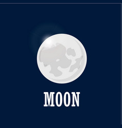 bright moon on the night sky realistic moon in vector image