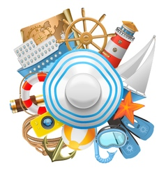 Cruise Concept with Hat vector image vector image