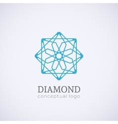 Diamond logo isolated on white vector image