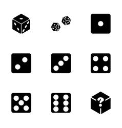 dice icon set vector image vector image