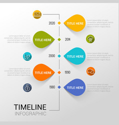 Infographic template with time line report points vector image
