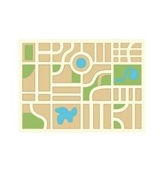 Orienteering theme design isolated icon vector image
