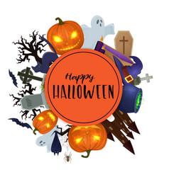 Set of scary halloween vector