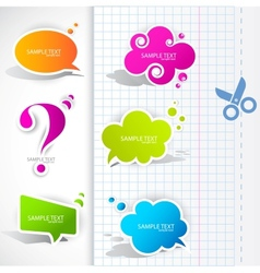 speech bubble elements vector image