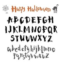 Written in ink alphabet vector image